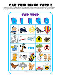 traveling games images Car trip games for kids throughout travel bingo 4 coloring page png