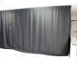Light Grey Blackout Curtains Light Blocking Industrial Black Out Curtains For Work Areas