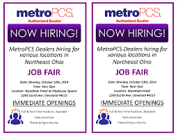 Resume For Metro Pcs Metropcs Job Fair Z 107 9