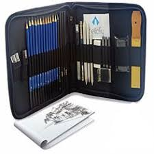 33 piece drawing art supplies set sketch kit pencils sketching