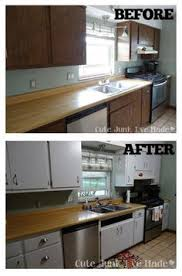 diy paint laminate cabinets easy and affordable kitchen makeover update 80s laminate cabinets