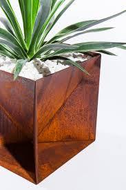 Corten Steel Planter by Origami Planter Weathering Steel U2014 Trey Jones Studio