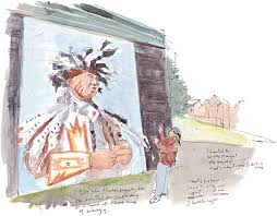 Blackfoot Indian Flag Artist Stands Tall As Murals Survive The Seattle Sketcher