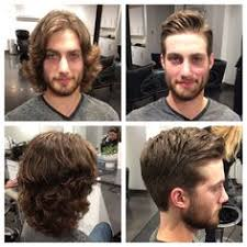 before and after thinning mens haircut this guy transported from the age of aquarius into the twenty