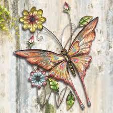 butterfly wall in watercolor metal wall wall
