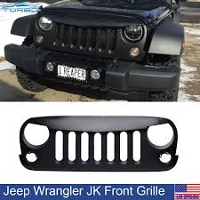 black jeep rubicon front matte angry bird gladiator hood grille for jeep wrangler jk