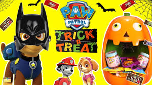 paw patrol halloween candy game with surprise toys candy blind