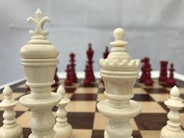 the theodore red and white bone chess set limited edition five