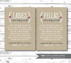 wedding bathroom basket ideas bathroom basket sign wedding bathroom sign guest bathroom sign
