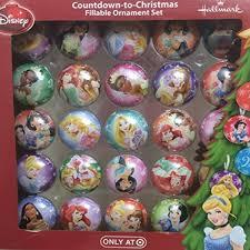 25 fillable ornament set princess disney countdown