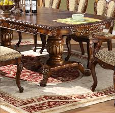 Carved Dining Table And Chairs Extendable Classic Wood Carving Dining Table Chair Set Mdd Room