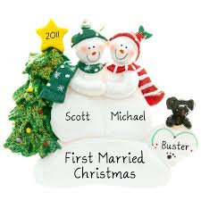 personalized ornaments with 2 dogs