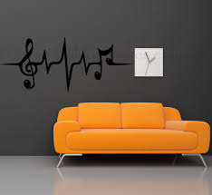 music note wall decal music wall decal heartbeat wall zoom