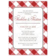 Couple S Shower Invitations Shower Invitations Red Gingham Country