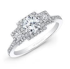 white diamonds rings images White gold white diamond square halo diamond side stone engagement jpg