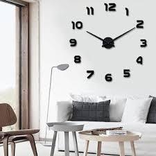 Modern Arts Large DIY Wall Clock D Stickers Design Home Office - Modern design home accessories