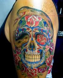 half sleeve mexican skull tattoo for men in 2017 real photo
