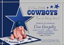 dallas cowboys baby shower invitations theruntime com