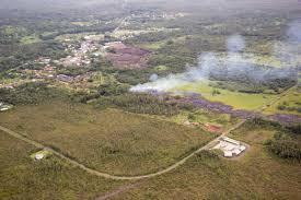 Hawaii Lava Flow Map Kilauea Lava Flow Reaches Hawaiian Town Natural Hazards