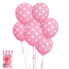 polka dot balloons light pink and white polka dot balloons cakes catering party