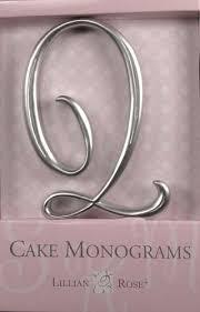 lillian cake topper q monogram wedding cake topper by lillian small silver