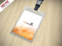 Id Card Design Psd Free Download Identity Card Holder Mockup Free Psd Psdfreebies Com