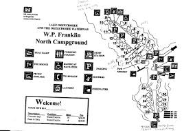 Map Fort Myers Florida by Campground Map W P Franklin North Campground Ft Myers Florida
