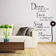 black vinyl quote motto poem words door wall mural decal sticker wall sticker