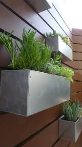 metal hanging planter box horizontal fence succulent wall garden