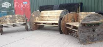 Cable Reel Chair Pallet U0026 Cable Drum Benches U2022 1001 Pallets