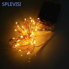 copper wire led lights 5 meter copper wire led strip warm light