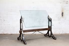 Custom Drafting Tables Buy Made Drafting Table Desk Glass Steel Wood Brass
