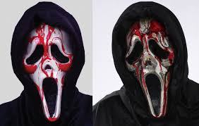 dripping bleeding ghost face mask halloween