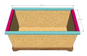 Build A Toy Box Bench by Ana White Build A Toybox Or Toy Chest Diy Projects