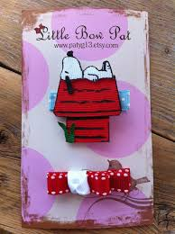 snoopy ribbon 540 best hair barrettes ribbon shaped images on