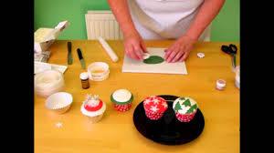 sugarcraft tutorial christmas cupcakes youtube