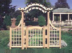 Trellis Arbor Designs The Classic Arbor Traditional Arched Arbor Design Utilizing