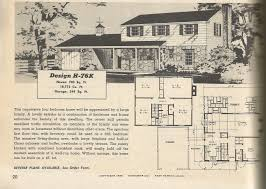vintage house plans 1950s two story 1 1 2 story and ramblers