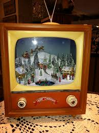 vintage tv snow box