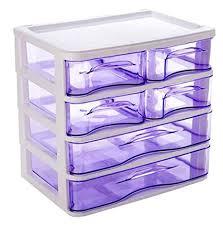 Purple Desk Organizers Office Plastic Desktop Storage Drawer Organizer 6
