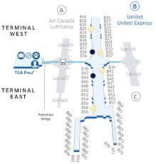 denver terminal b map denver international airport terminal map my