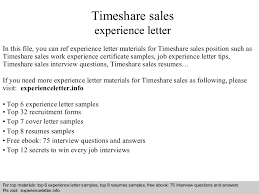 Top Sales Resumes Examples by Timesharesalesexperienceletter 140828121642 Phpapp02 Thumbnail 4 Jpg Cb U003d1409228253