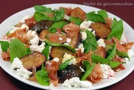 cuisiner des figues fraiches salade de figues fraîches au chèvre péché de gourmandise