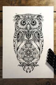 44 best zentangle owls images on pinterest mandalas drawings