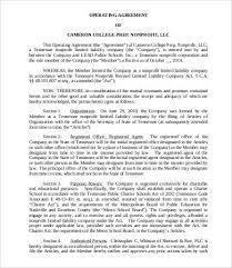operating agreement limited liability company operating agreement