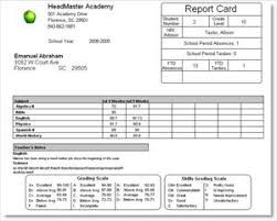 high school student report card template headmaster academy sle reports