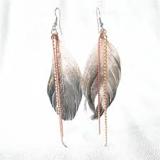 one side feather earring free shipping 2016 new designs jewelry fashion