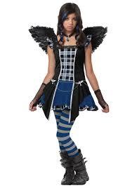 gothic halloween costumes tween strangeling raven costume