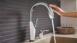 touch on kitchen faucet smarttouch technology innovations for the kitchen brizo