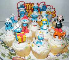 smurf deluxe figure cake toppers cupcake favor decorations